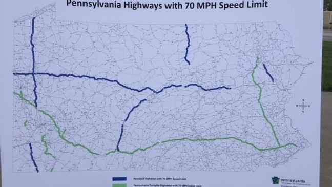 Speed limit increases on Turnpike, select PA interstates | WHP