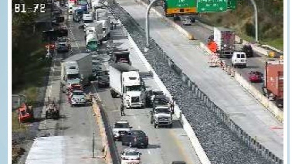 All northbound lanes of I-81 are closed due to accident near